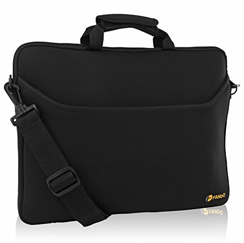 Neoprene Laptop Sleeve Case Bag/Notebook Computer Case/Briefcase Carrying Bag/Skin Cover 15.6 inch Water-resistant for Acer/Asus/Dell/Fujitsu/Lenovo/HP/Samsung/Sony/Toshiba (black)