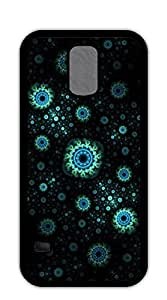 Personalized custom Hard Skin Case Cover Shell phone case for samsung galaxy s5 - Blue circle