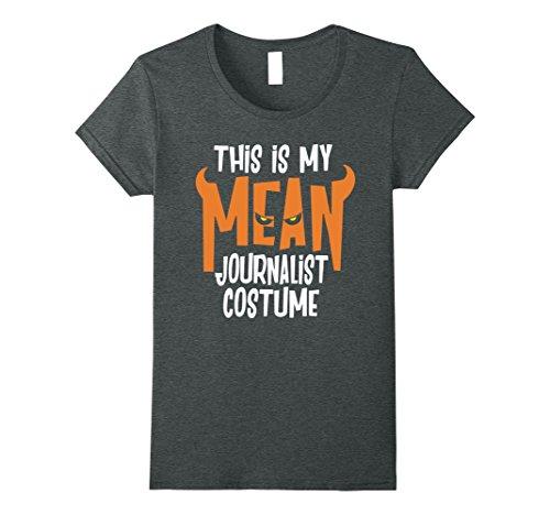 Womens Journalist Costume Shirt Funny Halloween TShirt Medium Dark Heather - Female Journalist Costume