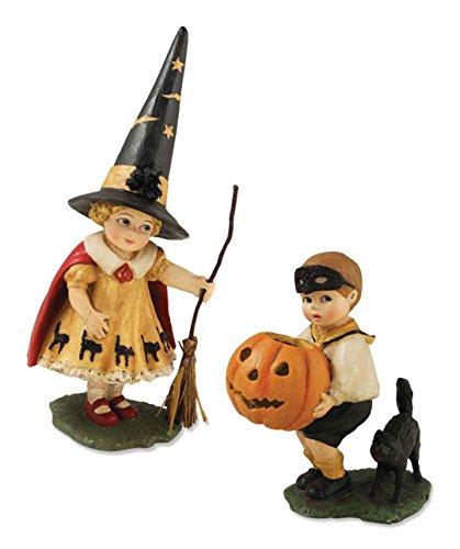Lowe Bethany Pumpkin (Bethany Lowe TD4023 Little Halloween Trick or Treater Set/2 New 2015)