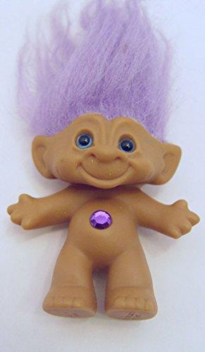 Jeweled Treasure (Ace Purple Haired Jeweled Blue Eyed Treasure Troll Doll 2.5