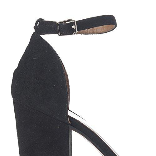 Laura Moretti - Sandalias tacón ancho Negro
