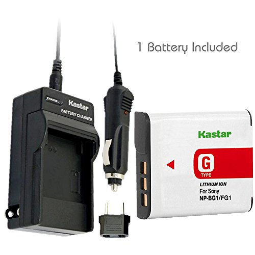 Kastar Battery (1-Pack) and Charger Kit for Sony NP-BG1, NP-FG1, BC-CSG and Sony Cyber-shot DSC-H50, Cyber-shot DSC-H10, Cyber-shot DSC-W120, Cyber-shot DSC-W170, Cyber-shot DSC-W300 Digital Cameras (Sony Camera Car Chargers)