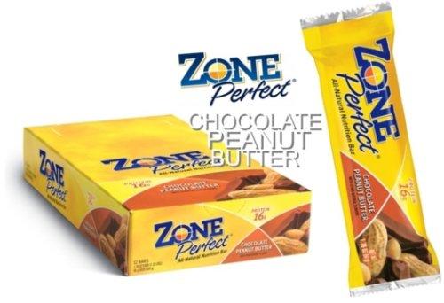 EAS Zone Perfect All Natural Nutrition Bar Chocolate Peanut Butter - 12 - 1.76 oz (50 g) bar [1.32 lb (600 g)]