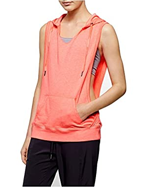 Calvin Klein Performance Sleeveless Pullover Hoodie Pink Small