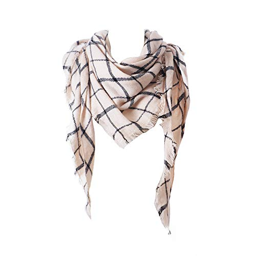 Fashion Scarves Womens Winter Faux Cashmere Christmas Plaid Long Scarf Afterso