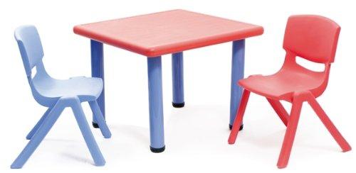 Colibri 00210001 Strong Table, Dimensione-62 x 62 x 52 cm, Colour-Red