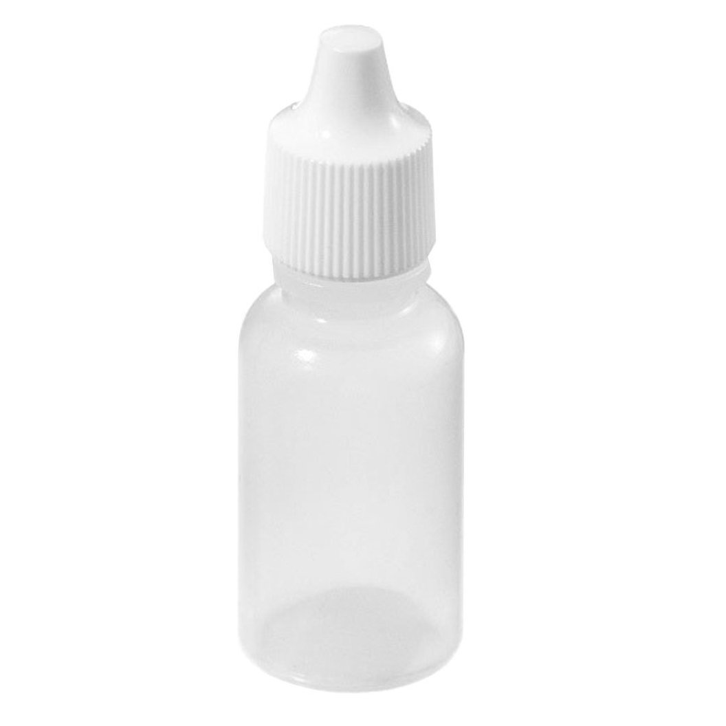 SODIAL(R) 50pz Bottiglie di plastica vuote spremibile contagocce bianco (20ml)