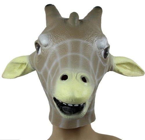 Gmasking Natural Latex Giraffe Mask Costume -