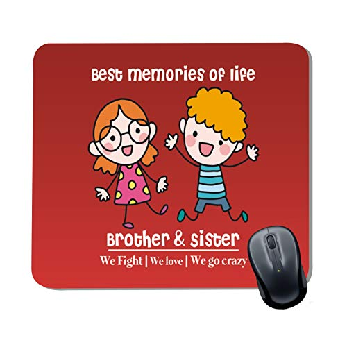 Family Shoping Birthday Special Best Memories of Life We Fight Love and Go Crazy Printed Mousepad for Computer System Pc Accessories