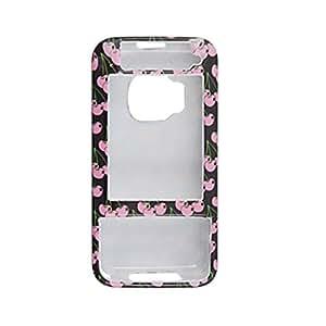 Titular de la cubierta de la caja de color rosa cereza con dibujos de plástico duro para Nokia N81