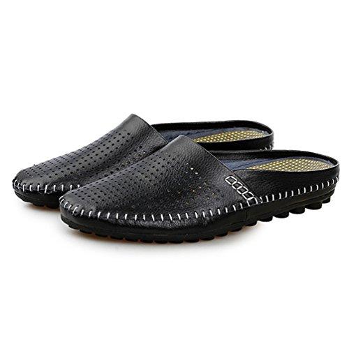 Piel Negro Zapatillas Otra Bajas Hombre Qianliuk de waHO1Iax