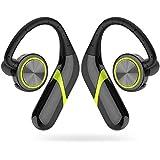 Wireless Earbuds Bluetooth, AMZLUV Wireless Bluetooth Headphones, 3D Sound Wireless Headphones Bluetooth IPX7 Waterproof Sweat-Proof Bluetooth Headphone Wireless Built-in Microphone (Green)