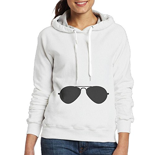Aviator Sunglasses Ladninag Personalized Women's White Hoodie - Where Buy To Aviator Sunglasses