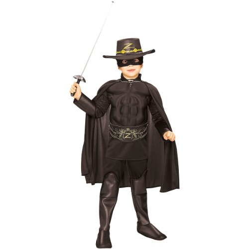 Rubie's Costume Zorro Deluxe Muscle Chest Child Costume, Small]()