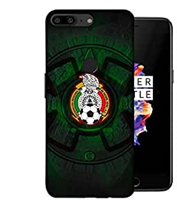 ColorKing Football Mexico 08 Black shell case cover for OnePlus 5T