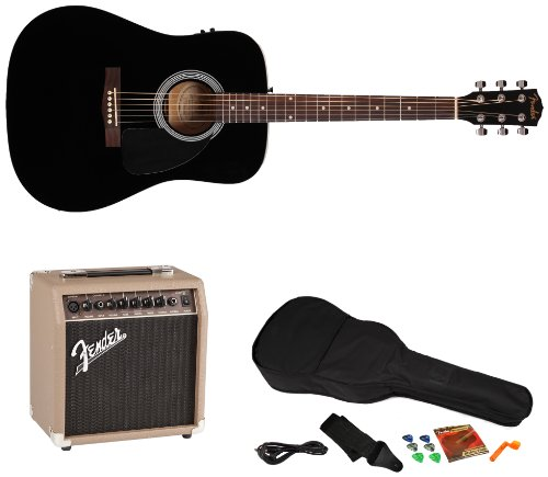 fender fa 200 acoustic electric guitar pack with acoustasonic 15 amp and rock prodigy. Black Bedroom Furniture Sets. Home Design Ideas