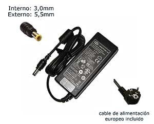 "Cargador de portátil Samsung AD6019 R60+ R60 Plus Alimentación, adaptador, Ordenador Portatil transformador - Marca ""Laptop Power""® (12 meses de garantía y cable de alimentación europeo incluido)"