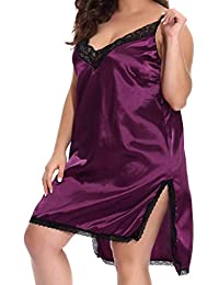 6704b777ff49d OrchidAmor Women Sexy 2019 New Plus Size Nightgown