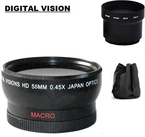 デジタルビジョン広角レンズとレンズチューブアダプタfor Kodak z612、z712、z812、z1012 is   B01N138Y84