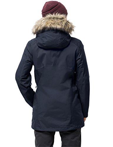 De nbsp;en 1 nbsp;veste vent 3 Jack Coupe Bleu Femme Ocean nbsp;in Imperméable Nuit Wolfskin Arctic Respirant 3 Protection ccq6gHO