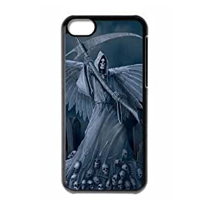 LJF phone case C-EUR Print Grim Reaper Pattern Hard Case for iPhone 5C