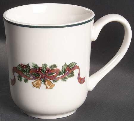 "Johnson Brothers Victorian Christmas (""England 1883"") Mug, Fine China Dinnerware"