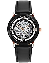 Skeleton Men's Analogue Automatic Watch with Leather Strap