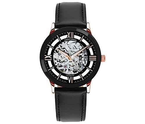 Pierre Lannier Skeleton Men's Analogue Automatic Watch with Leather Strap
