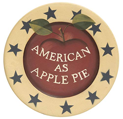 CWI Gifts American as Apple Pie Decorative Plate, Multi All American Apple Pie