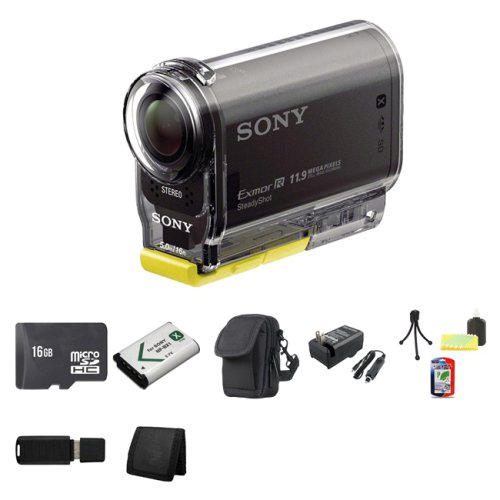 Sony High Definition POVアクションビデオカメラhdr-as30 V + 16 GB microSDHC Class 10メモリカード+ NP - bx1ライオンバッテリー+キャリングケース+外部急速充電器バンドル   B00FJHLZQM