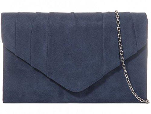 moyen bleu Pochette Bleu sarcelle Hautefordiva pour marine femme CRq7cfw