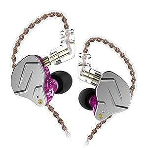 KZ ZSN PRO Headset HiFi Hybrid Technology Professional Dynamic in-Ear Earphone (Without mic, Purple)