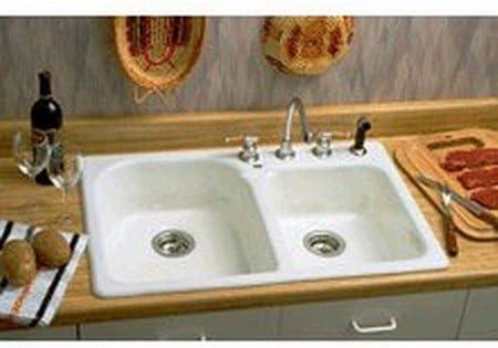 Amazon Com Eljer Tuscany Ii Kitchen Sink 2 Bowl 212 3246 00 Home Kitchen