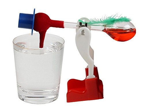 Red Retro Happy Dippy Drinking Bird by Unknown
