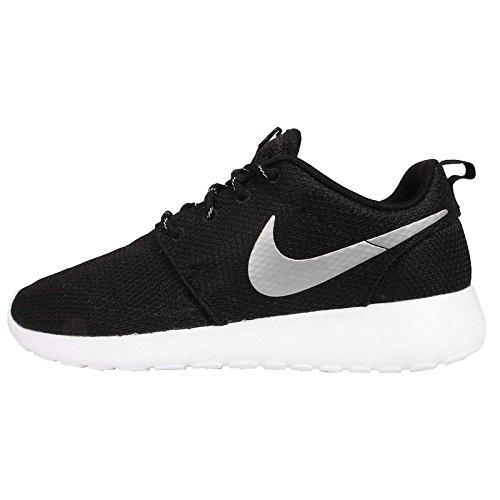 Nike Womens Roshe One Running Shoe Black/Metallic Platinum/White (7.5)