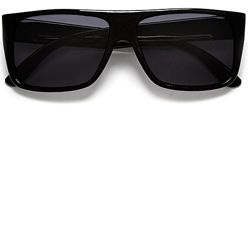 Classic Old School Eazy E Square Flat Top OG Locs Dark Lens Sunglasses - Old School Aviator Sunglasses