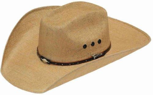 UPC 701340489592, Twister Men's 8X Jute Boxed Cattleman Crease Straw Cowboy Hat Natural 7 1/2