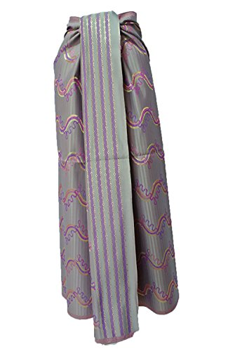 Thai Myanmar Synthetic Silk Gray Fabric Mandalay MT30 for women Skirt Dress MF24 (Skirt Mandalay)