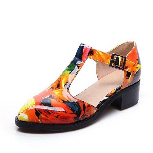 Adee Ladies pointed-toe low-heels Poliuretano bombas zapatos Multicolor
