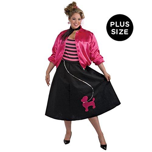 Forum Novelties Women's 50's Poodle Skirt Set, Multi, Plus Size