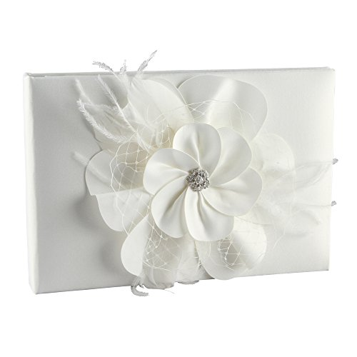 Ivy Lane Design Somerset Collection Guest Book, Ivory (Collection Guest Book Princess)