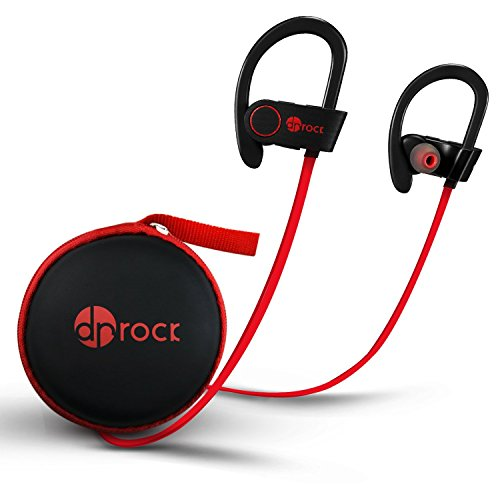 Bluetooth Headphones,[DR ROCK] Wireless Sports Earphones IPX7 Waterproof HD Stereo Sweatproof in Ear Earbus for Gym Running Workout 8 Hour Battery Noise Cancelling Headsets for iPhone and Android