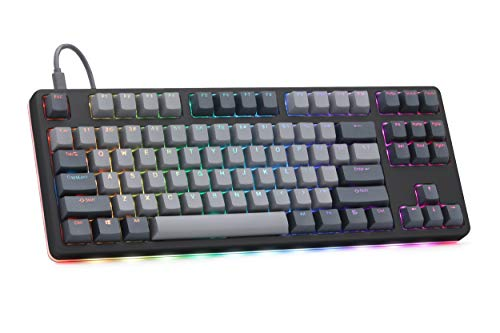 Drop CTRL High-Profile Mechanical Keyboard — Tenkeyless TKL (87 Key) Gaming Keyboard, Hot-Swap Switches, Programmable, Backlit RGB LED, USB-C, Doubleshot PBT, Aluminum (Black, Kaihua Speed Silver)