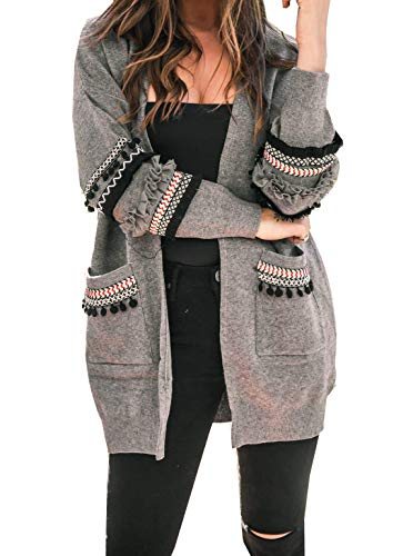 BTFBM Cardigan Pockets Bohemian Knitted product image