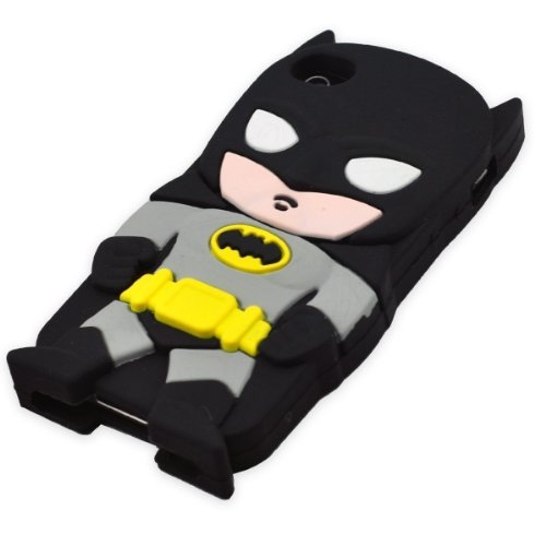 [iBee dc Batman Costume Original Arkham Knight Super Hero 3D Silicone Case for iphone5 5s By Asia] (Batman Costumes Arkham Knight)