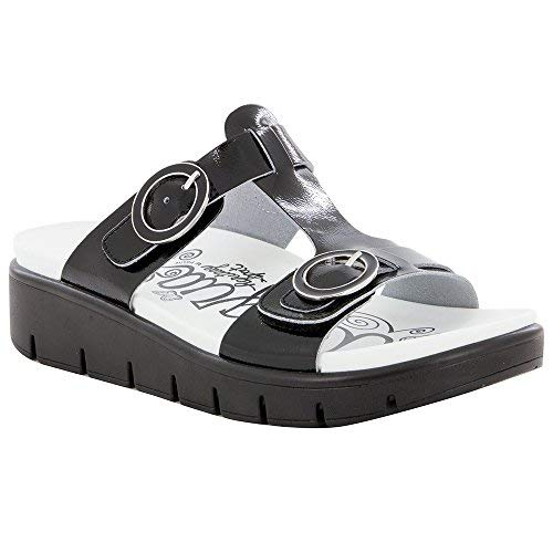 Alegria Womens Vita Sandal, Black Patent, Size 37 EU (7-7.5 M US Women)