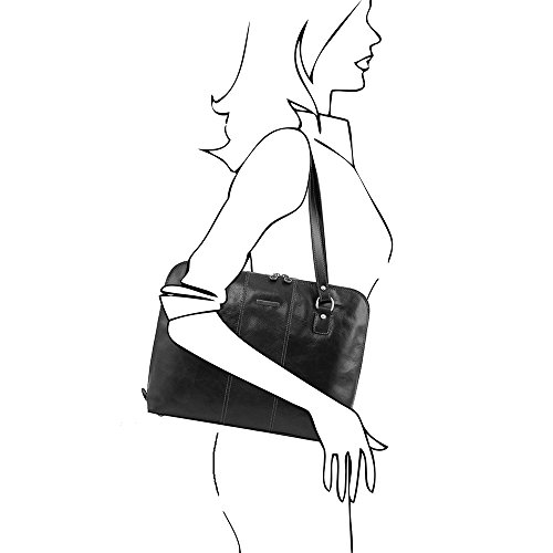 Taille A Donna Leather Borsa Tuscany Spalla Unique Nero qvOwY