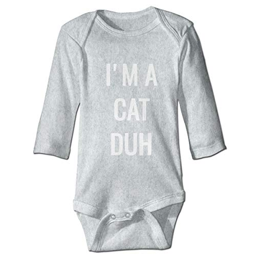I'm A Cat Duh Long Sleeve Baby Jumpsuit Cute Newborn Outfits Summer Bodysuits ()