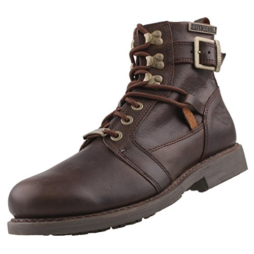 Harley Davidson Mens Harrison Leather Boots Brown
